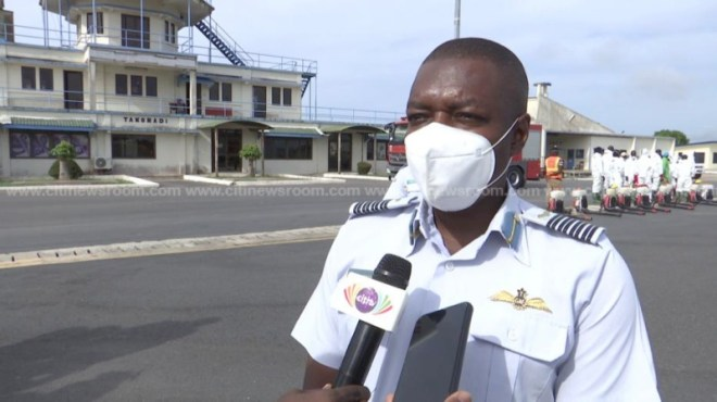 Takoradi Airforce Base Commander, Group Captain Eric Agyen-Frimpong