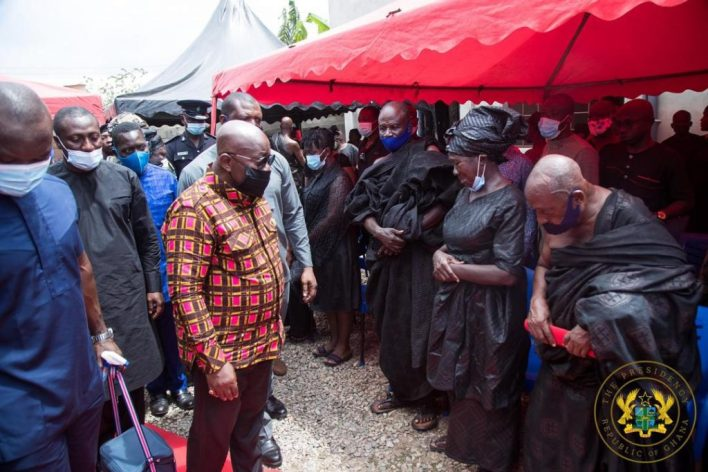 Akufo-Addo visits family of slain Mfantseman MP; assures them of befitting burial 8