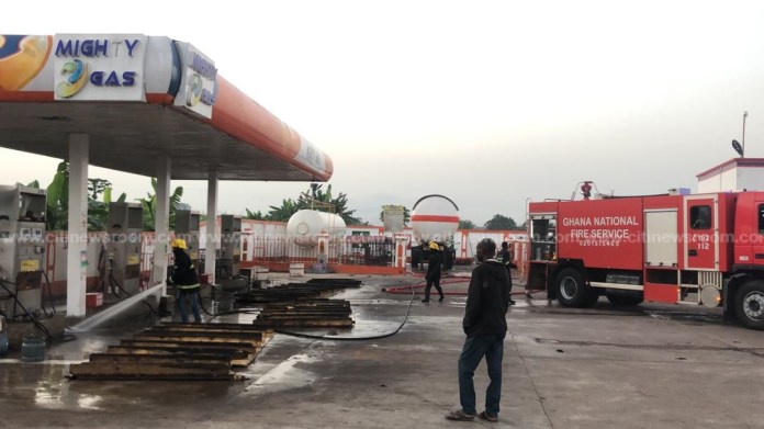 V/R: Five injured after fire razes gas filling station at Ho