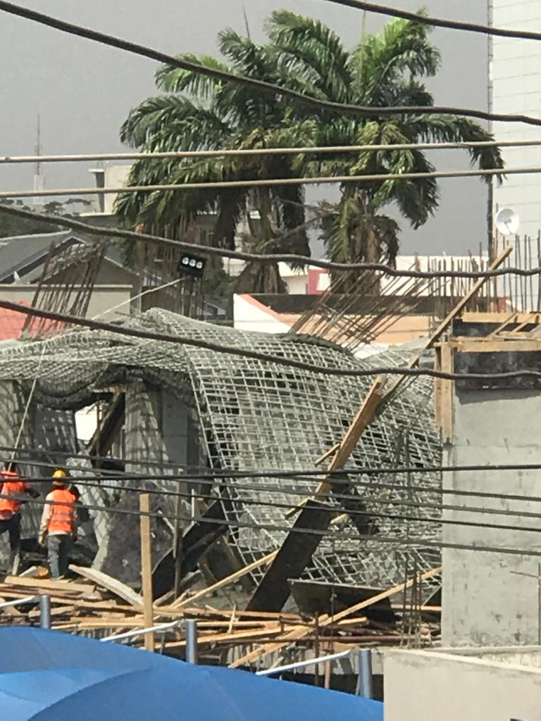 Workers injured as 22-storey building under construction collapses at Airport 4