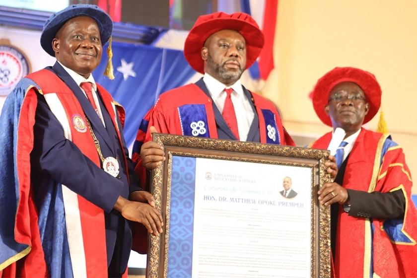 UEW honors Prof. Oquaye, NAPO with honorary Doctorate degrees 1