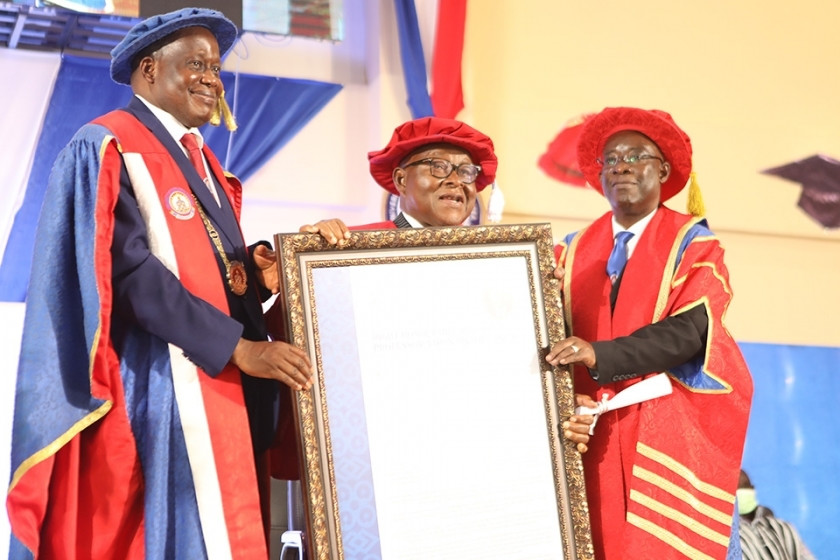 UEW honors Prof. Oquaye, NAPO with honorary Doctorate degrees 2