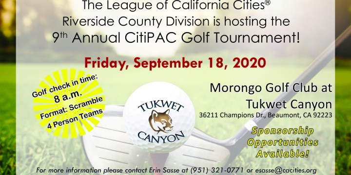Riverside County Division Golf Tournament – Canceled