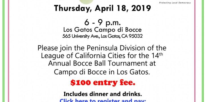 Peninsula Division 14th Annual Bocce Ball Tournament