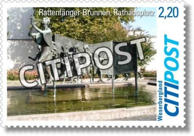 CITIPost Weserbergland - Rattenfänger - Einzelmarken