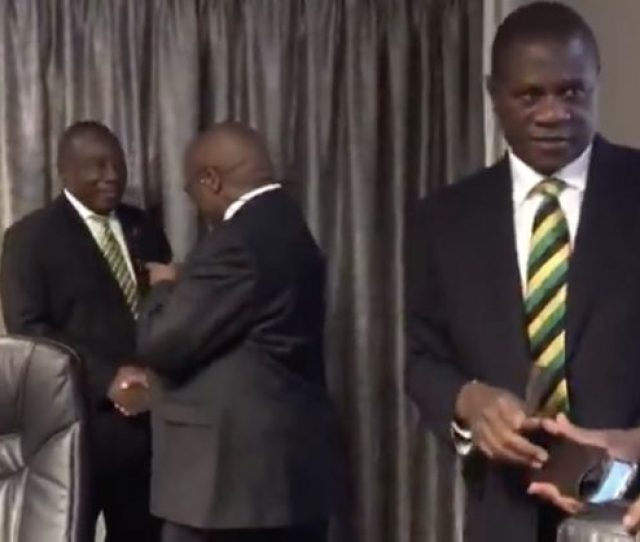 A Trio Of Top Anc Leaders Allegedly Colluded To Make The Former President Look Disrespectful At An Anc Event
