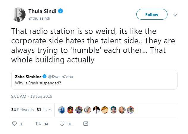 thula sindi tweet