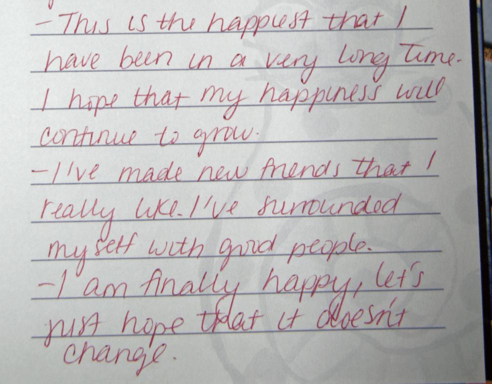 2nd half of Casey's disturbing journal entry.