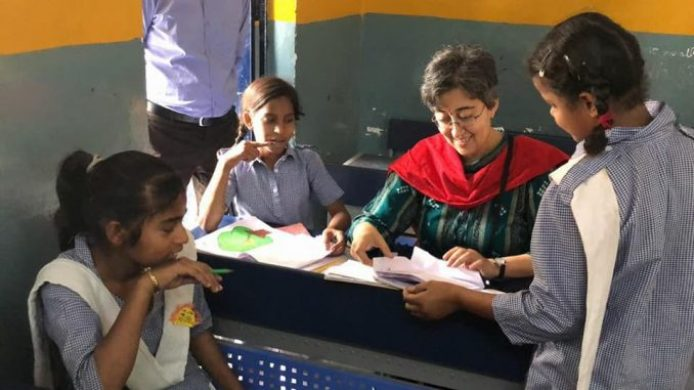 Image result for atishi education work