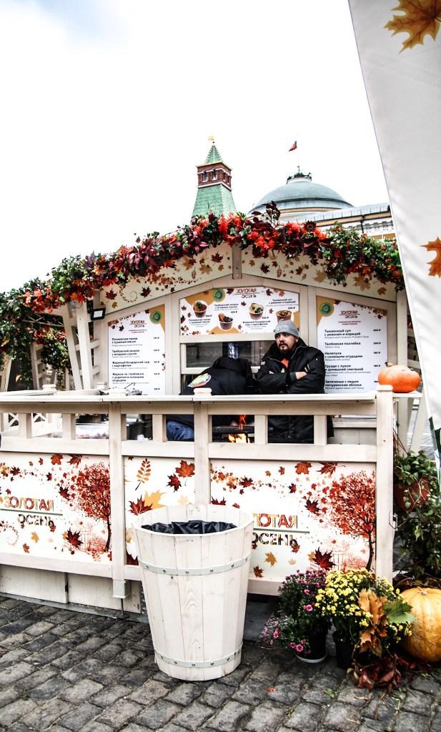 Moscow autumn market