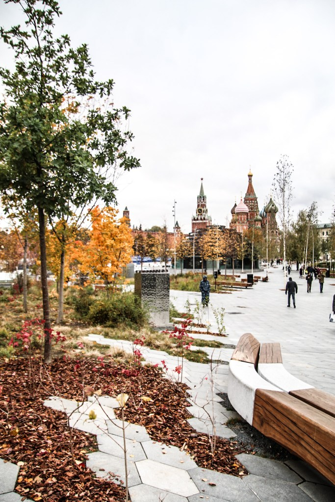 Autumn in Moscow with basilic in back ground