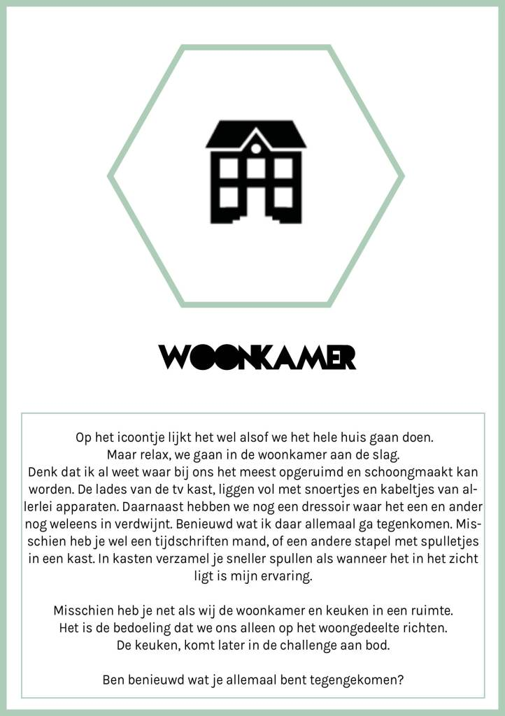 Woonkamer uitdaging Spring Challenge Citizen of 2020