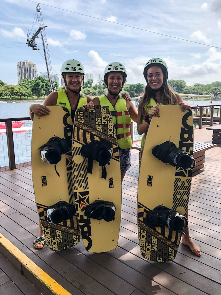 Singapore Loes wakeboarden
