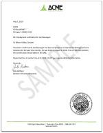 Employment Verification Letter For
