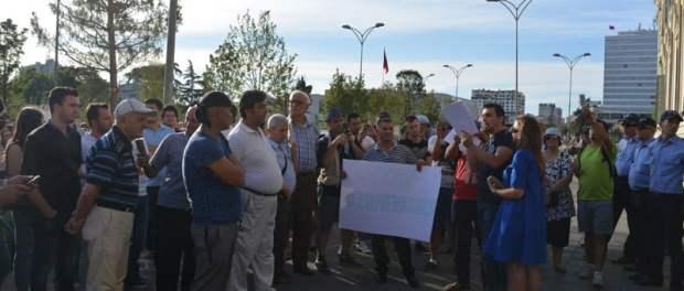 Protesta para Bashkisë së Tiranës. Foto: Amarildo Topi Citizens Channel