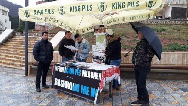 Nga protesta e sotme në Bajram Curri. Foto: Organizata Toka
