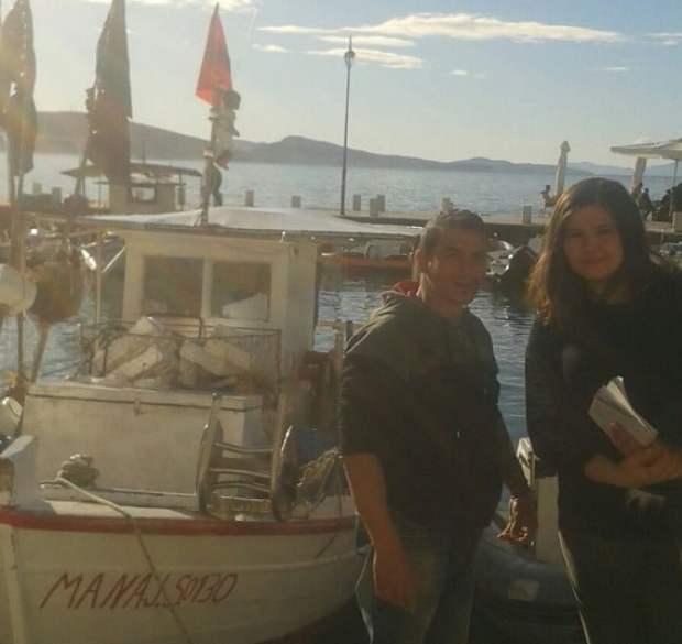 Peshkatari Flori dhe autorja e shkrimit Kleodora Elmasllari.