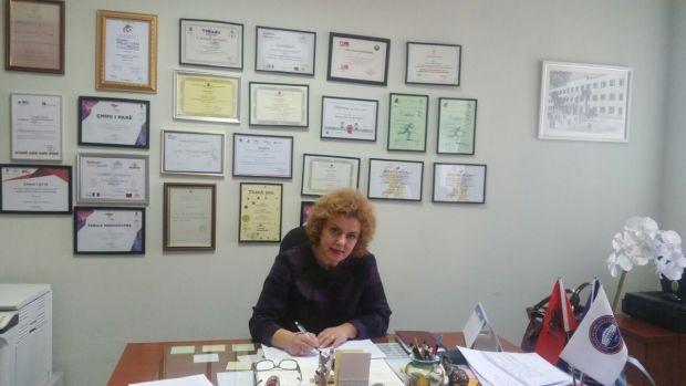 Teuta Braçaj duke folur për Citizens Channel. Foto: Esmeralda Keta