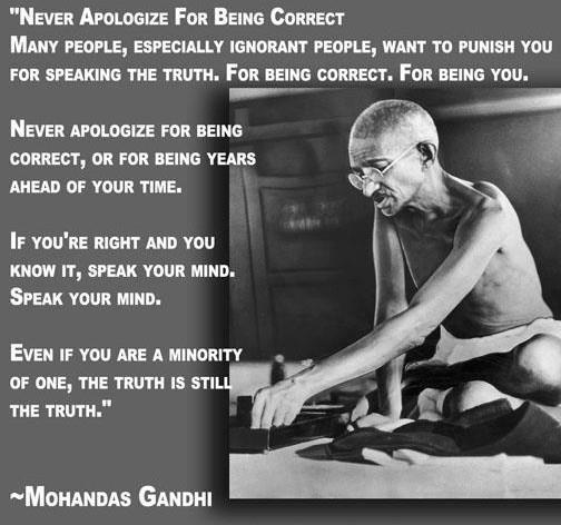 Gandhi's quote