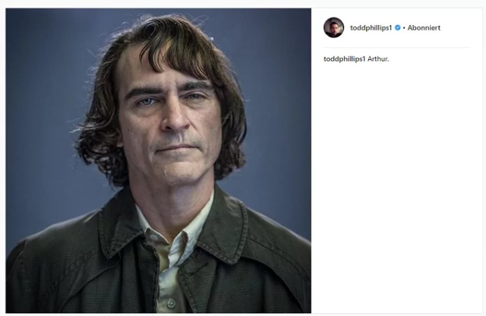 ©toddphillips Instagram Joker Film Joaquin Phoenix