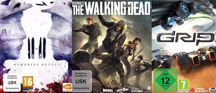 ©Bandai Namco Entertainment 11 11 Memories Retold ©505 Games Overkill The Walking Dead ©Caged Element GRIP