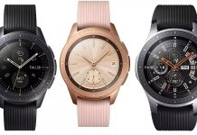 Galaxy Watch Test Smartwatch Schwarz Roségold Silber