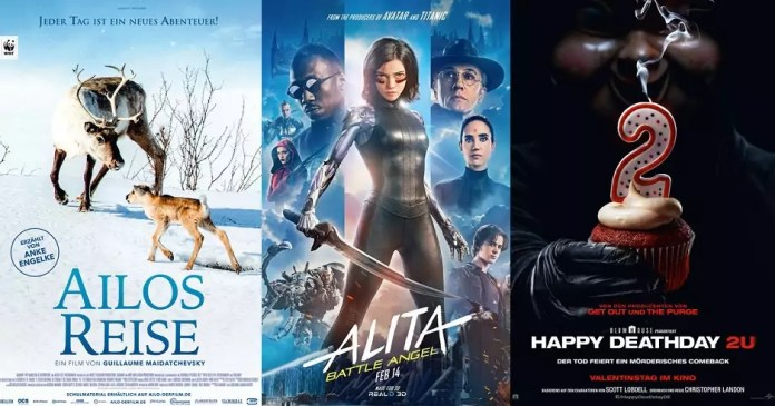©Ascot Elite ©Twentieth Century Fox ©Universal Pictures Ailos reise alita battle angel happy deathday 2u kino trailer time