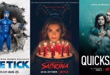 ©Amazon ©Netflix The tick staffel 2 chilling adventures of sabrina part 2 quicksand staffel 1 serien trailer time