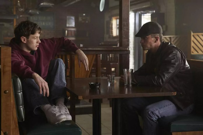 Mark OBrien as Jimmy Ryan and Jonathan Tucker as Frankie Ryan in CITY ON A HILL