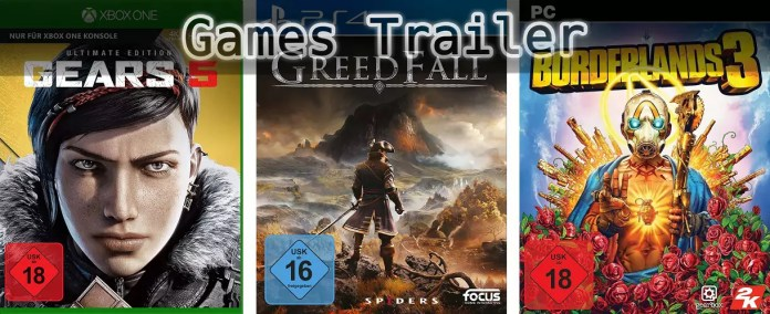 ©Xbox Game Studios ©Focus Home Interactive ©2K , Gears 5 , GreedFall , Borderlands 3 , Games Trailer Time
