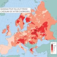 Retombées de césium-137 sur l'Europe après Tchernobyl