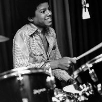 Michael Jackson on drums