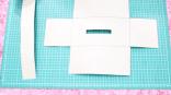 Potong pola kerangka badan cover tissue, lubangi kotak bagian tengah.