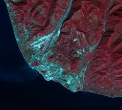 Kenampakan Citra Satelit Landsat 8 Arena Sochi Olympic Park - Credit: NASA/Landsat; Tim Assal, US Geological Survey – Fort Collins Science Center