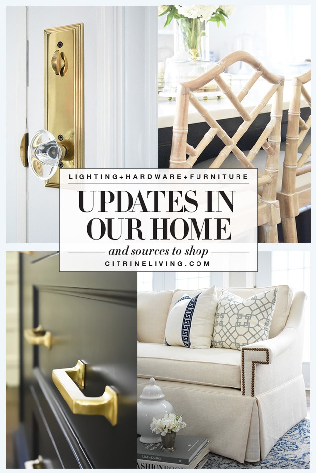 We've made many updates in our home over the last year - find them all in one blog post + sources!