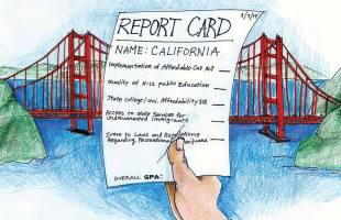 The California Report Card allows users to assign grades to the State of California on timely issues.