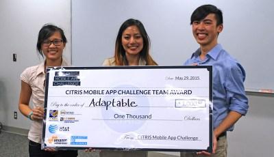 Adaptable Wins 2015 CITRIS Mobile App Challenge at UC Davis