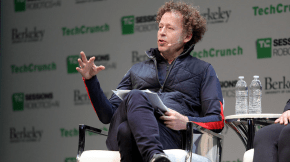 Ken Goldberg at TechCrunch - photo by Adriel Olmos/CITRIS