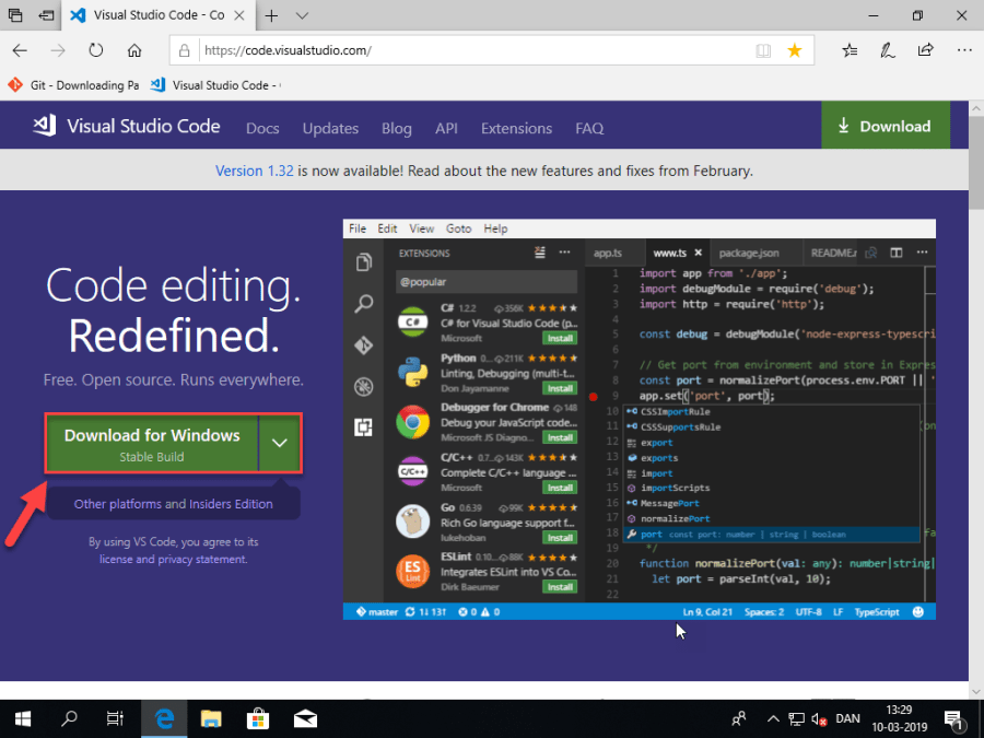 Setting up Visual Studio Code, GitHub and code signing