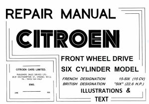 0.-1-Repair-Manual-Citroen-Illustrations-Text-1