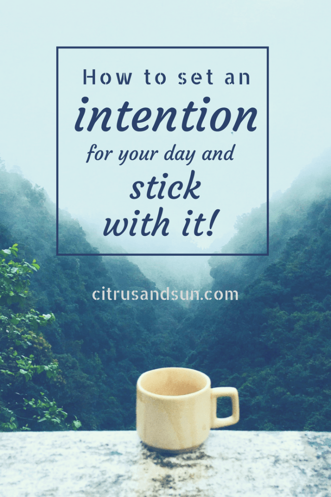 Setting a morning intention for good vibes
