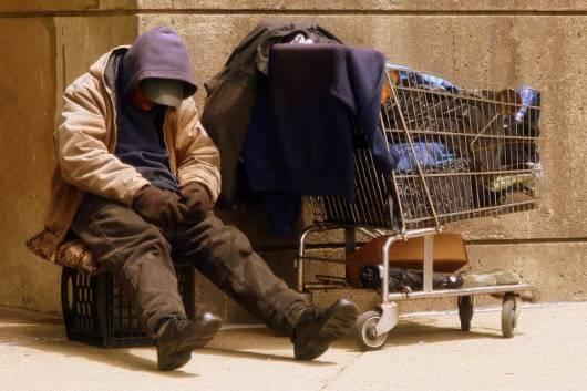 Resultado de imagem para homeless shopping cart new york