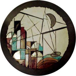 FEDORA - tondo in ceramica raku - Ø cm. 60
