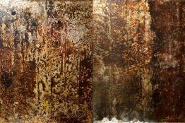 ARGIA - terre e resine naturali su tela - cm. 140 x 100