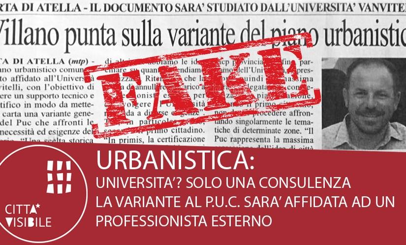 Ma quale Università! La Variante verrà redatta da un Professionista Esterno!