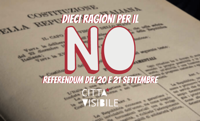 Referendum: Perché NO!