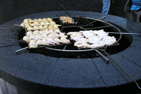 El Diablo volcano barbecue
