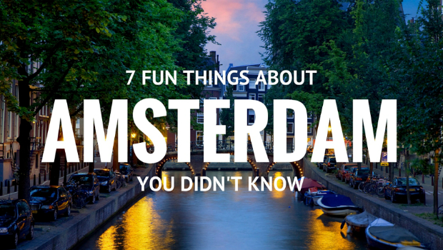 Private Amsterdam taxi fun facts infographic