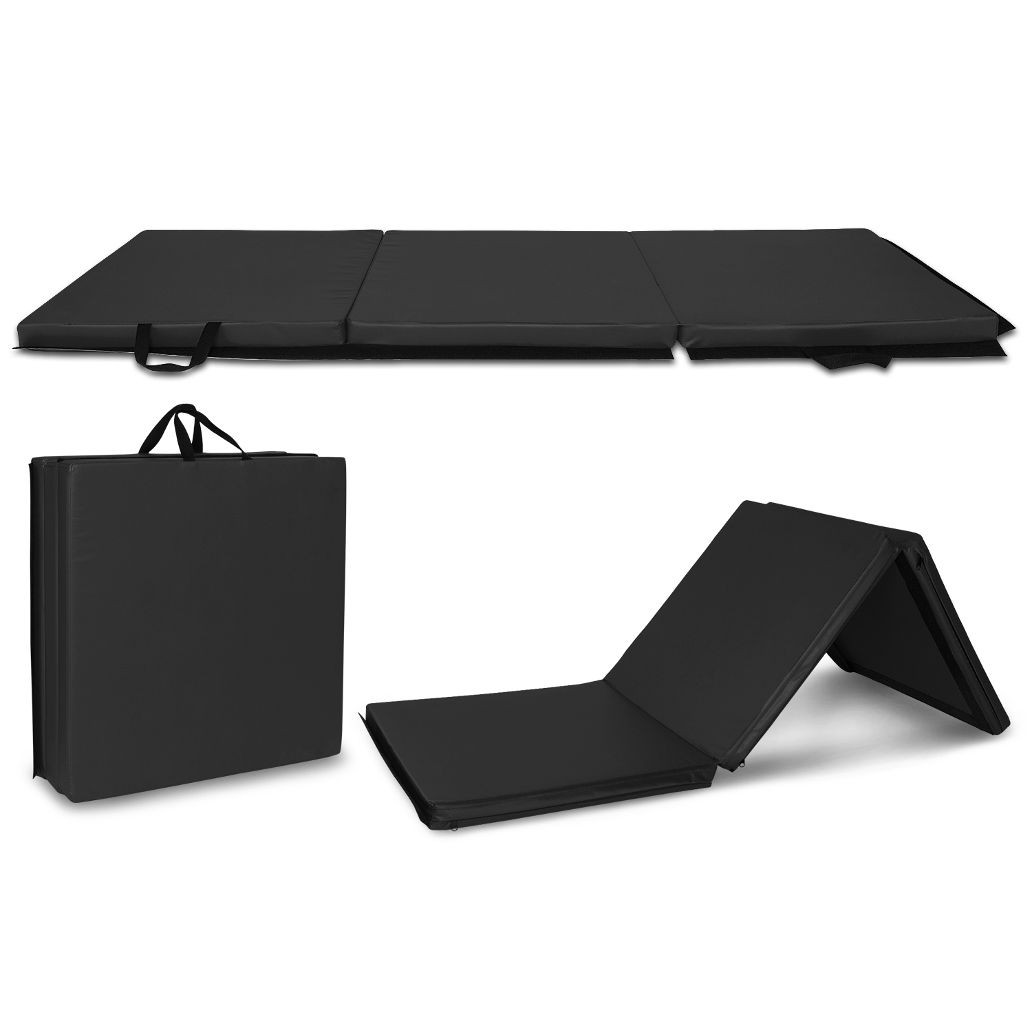 6 X2 Exercise Non Slip Tri Fold Thick Foam Gym Mat For