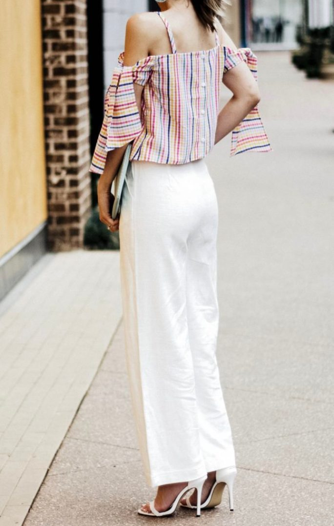 asos-seersucker-cold-shoulder-bow-sleeves-linen-pants-city-peach